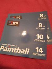 IPG PAINTBALL - 10 x £30 PAINTBALLING TICKETS + 1000 FREE PAINTBALLS