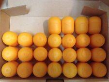 25 vacíos ü-huevo cápsulas en naranja-bricolaje, rifa, boda