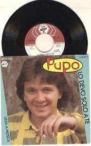 """7"""" Schallplatte Pupo - LO DEVO SOLO A TE"""