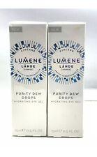 2x Lumene Lahde Purity Dew Drops Hydrating Eye Gel 0.5 Oz 15 ml