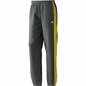 Adidas ESS 3s G70294 mens pant trousers tracksuit bottoms fleece grey sweatpant