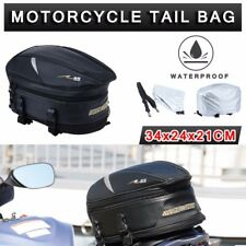 Motorcycle Touring Rear Pillion Seat Tail Bag Luggage Expandable Waterproof AU