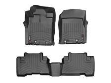 WeatherTech FloorLiner Mats for Toyota FJ Cruiser 2011-2014 1st 2nd Row Black