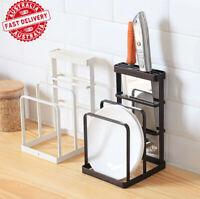 Chopping Board and Knife Shelf Stand Block Lid Holder Kitchen Organizer