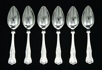 "6 VINTAGE SHEFFIELD EPNS A1 SILVER PLATED KINGS PATTERN 5.5"" GRAPEFRUIT SPOONS"