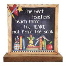 The Best Teachers Wooden Word Block - Freestanding – Plinth – Gift