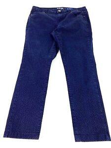 STYLE & CO.Femmes Bleu Foncé à Pois Jeans Capri Jean Taille 8P