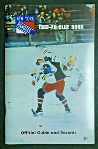 New York Rangers 1969-1970 Blue Book Official Guide