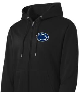 Penn State Jacket Full Zip Hoodie Black Hooded Nittany Lions Zipper Sweatshirt
