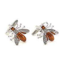 High Quality Novelty Hornet Cufflink With Gift Box Bee Cuff Link 0311