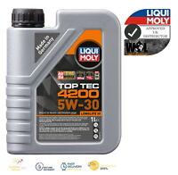 Liqui Moly Top Tec 4200 5W30 ACEA C3 BMW-LL VW PORSCHE MB ENGINE OIL 8973 1 L
