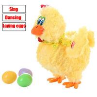 Fun Laying Eggs Chicken Plush Toy Electric Hen Musical Dancing Baby Kids Gifts