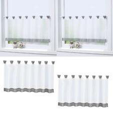 2 Size Kitchen Curtain Cafe Panel for Rod Window Sheer Drape Valance