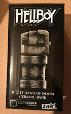 HELLBOY Right Hand of Doom Ceramic Coin Bank. Loot crate exclusive. New in Box