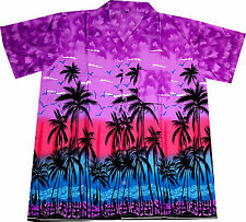 "Hawaiian Shirt ""Hawaiian Paradise"" / size S - 6XL / Mens Hawaian Shirts / purple"