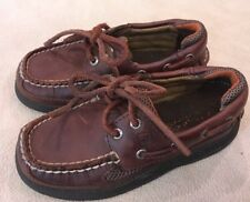 Sperry Loafers 9.5 Medium Boys Cutter Lace Brown Shoes
