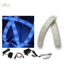 ( 7,50€/m ) LED lichtband-set azul, 5 x 1 , 2 m, 300 smds , rayas Flexible, Tira