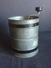 New listing Antique Vintage Kitchen Androck Triple Sifting Flour Sifter