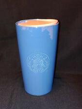 RARE Starbucks 2020 Tumbler Travel Ceramic Mug 12oz Glossy Blue Pink Lid