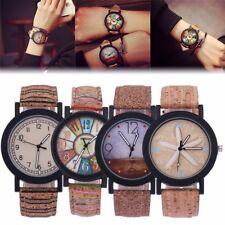 Vintage Reloj De Mujer Hombre Cuarzo Estrellas De mar Madera Del Grano Cuero