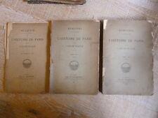 MEMOIRES HISTOIRE DE LA VILLE DE PARIS 1887 CHAMPION BULLETIN PLANCHES VIEUX