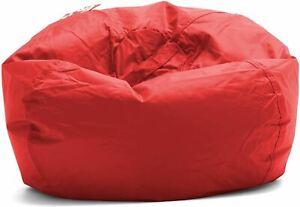 "Big Joe Classic 98 Bean Bag Chair, 33""L x 33""W x 20""H, Flaming Red"