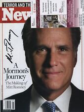 MITT ROMNEY COLOR SIGNED AUTOGRAPHED NEWSWEEK COVER JSA COA