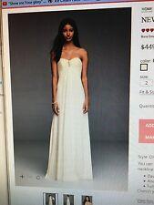 SALE New Davids Bridal strapless chiffon brooch aline wedding dress, 2-