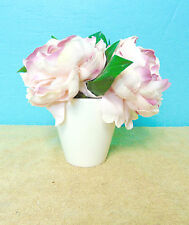 Artificial Flowers glass vase white pink yellow table window sill display decor