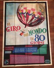 Manifesto,4F,IL GIRO DEL MONDO IN 80 GIORNI,Around the World days,J.Verne,1 EDIZ
