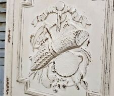 Farmhouse trophy summer wood carving panel Antique french architectural salvage