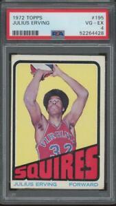 1972 Topps #195 Julius Erving RC Rookie PSA 4