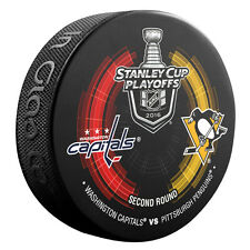 2016 Washington Capitals vs Pittsburgh Penguins Stanley Cup Playoffs Hockey Puck