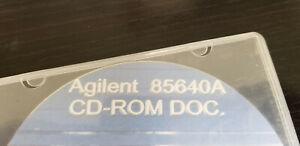Agilent 85640A CD-ROM DOC.