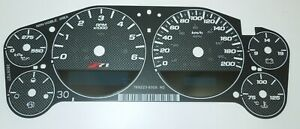 Carbon Fiber Gauge Face Overlay for 2007-2013 GM Truck and SUV Clusters Z71 km/h