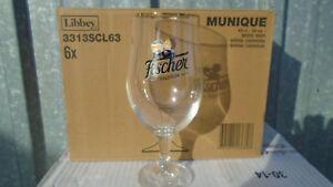 6 verres neufs Fischer tradition 0.50 cl en carton d origine