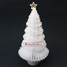 Winter White Christmas Tree Honeycomb Pop Up Greeting Card