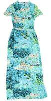 H&M Womens Size 6 Floral Silk Blend Multi-Coloured Dress (Regular)