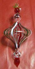 Décoration de sapin verre boule rouge vert blanc (NO36)