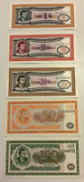 Russian MMM Banknote Set. 1, 10, 20, 50, 100 Biletov. Unc. Dated 1994.