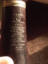 Jerome Thibouville Lamy Paris Grenadilla Wood Clarinet Hors Concours Paris 1889