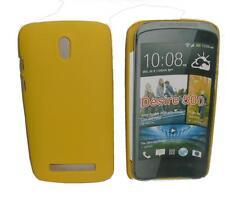 Pellicola+custodia BACK COVER RIGIDA GIALLA per HTC Desire 500 (A1)