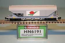 """Arnold HN 6191 SNCF Silowagen """"Cooperl""""in grau/NEU/OVP"""