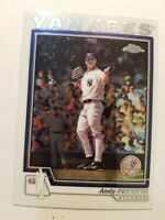 2004 Topps Chrome Refractor Andy Pettitte #64 New York Yankees   C116