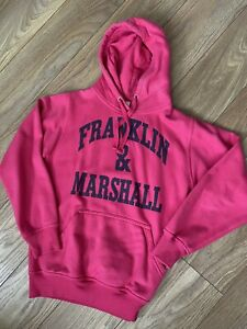 Franklin And Marshall Hoodie Top Pink Size Small 10 Women's Girls Jumper