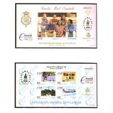 ESPAÑA SPAIN PRUEBAS DE LUJO Nº10/11  EDIFIL Nº 58/59 ESPAMER 96 AVIACION