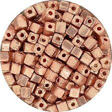 Metallic Würfel 3,4  x 3,4 mm kupfer 17 g