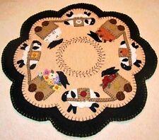 Prim Wool Felt Candle Mat Kit, Penny Rug Kit, FOUR SEASONS, Embroidery Kit