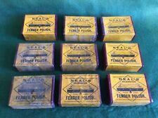 "NINE, completely unopened/unused, vintage boxes/packets of ""NEALS"" Fender Polish"