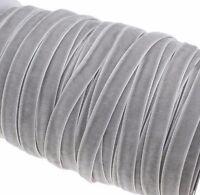 10m Samtband 10mm Grau Samtborte Zierband SCHMUCKBAND SCHLEIFENBAND C261